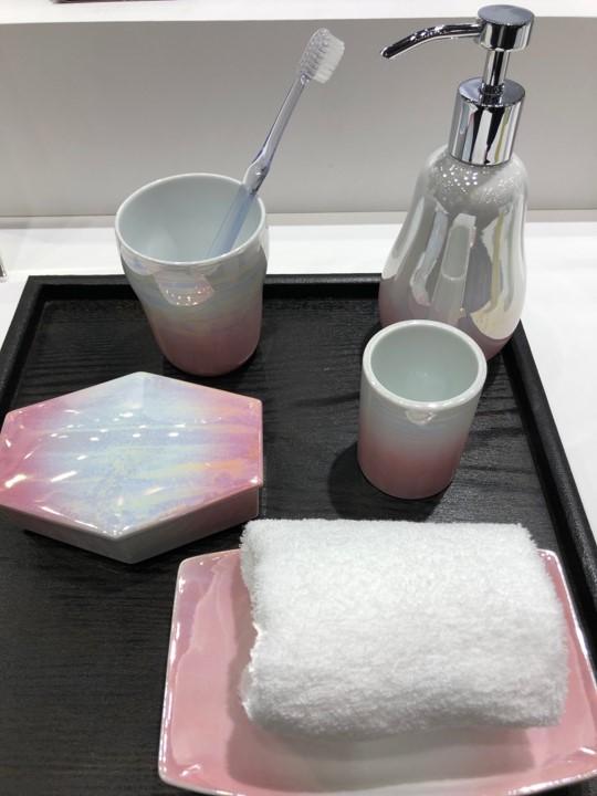 抗菌加工の有田焼! Withコロナの洗面器具セット