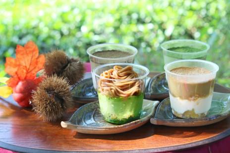 秋の食材といえば栗とリンゴ! 秋冬限定の宇治茶ティラミスシリーズ