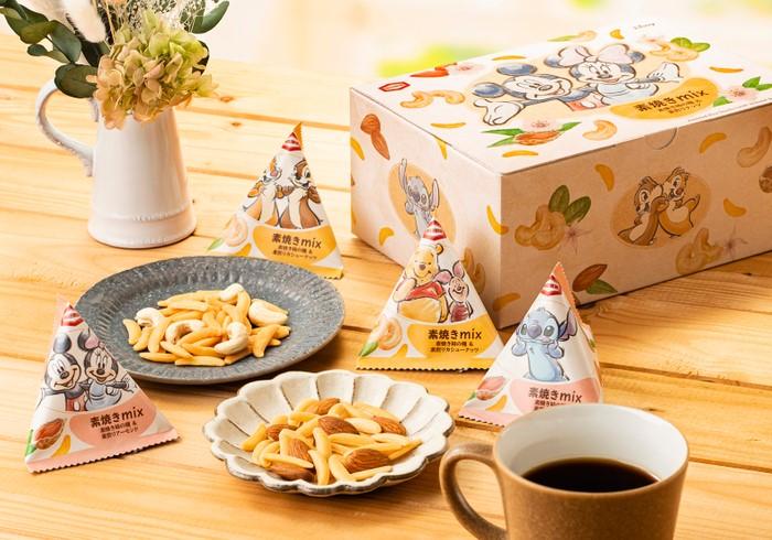 亀田製菓初、「素焼き柿の種」 ディズニーのおやつ箱で登場