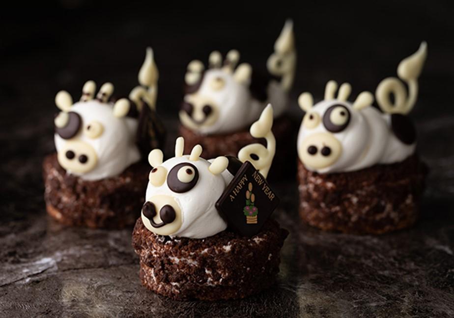 毎年人気の干支ケーキ 1月限定「笑福の丑」