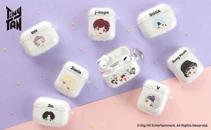BTSキャラクターのAirPods入れ 「TinyTAN iFace Look in Clearケース」
