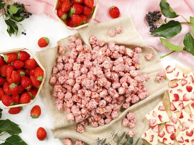 ポップコーンも春の味わい! 桜色の「ベリーベリーホワイトチョコレート」を限定発売