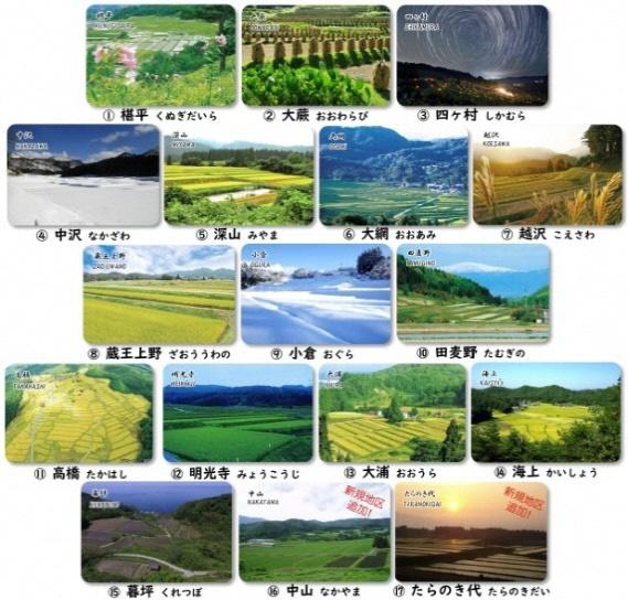 「やまがたの棚田カード」をリニューアル 「棚田20選」の17地区の景観写真や成り立ちを解説
