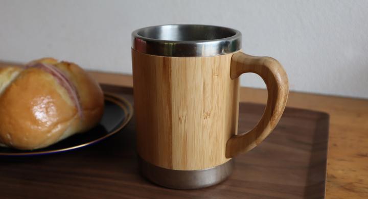 アウトドアシーンにもぴったり! 天然竹とステンレスを組み合わせたマグカップ