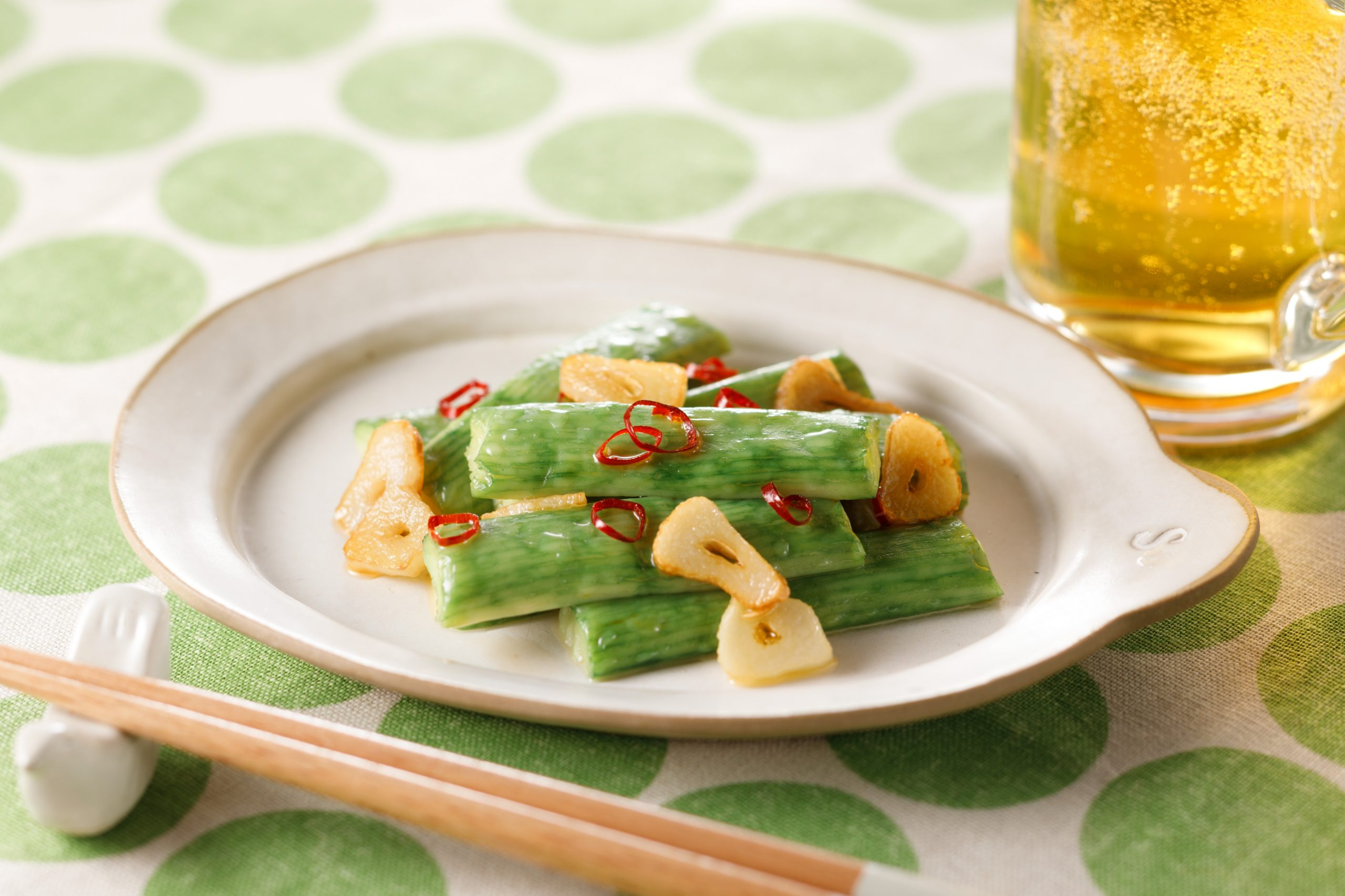 枝豆風味のスティック 夏にぴったり緑色