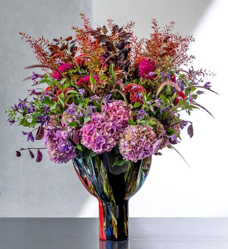 125色のカラーパレット 花とベネチアングラス